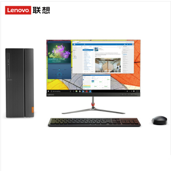 联想 510A-15 I3-7100 4G 1TB 集显 W10 19.5寸显示器 台式机 3年